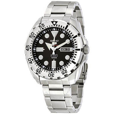 SEIKO Diver Automatic Black Dial Stainless Steel Watch SRP599